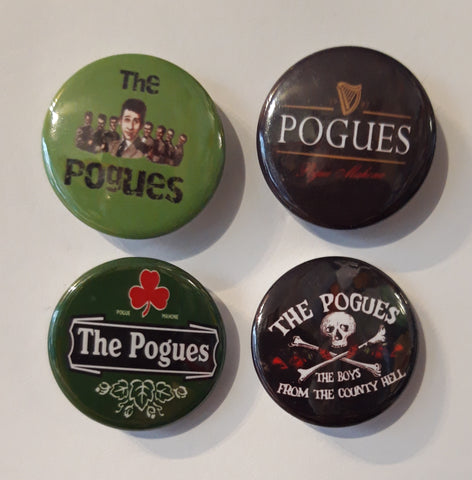 The Pogues - Set of 4 Badges