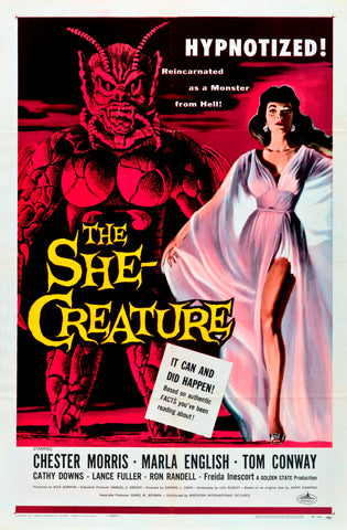 The She Creature - 50s B-Movie Classic - A4 Vintage Print A
