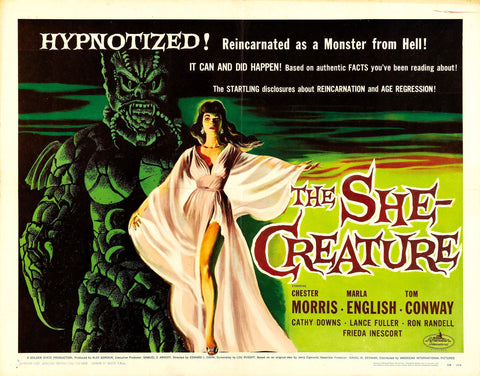 The She Creature - 50s B-Movie Classic - A4 Vintage Print B