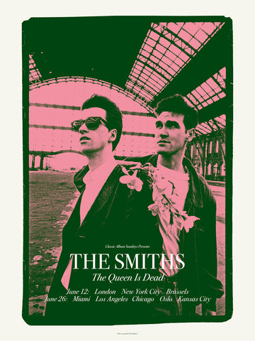 The Smiths - The Queen is Dead  Tour - A4 Music Mini Print