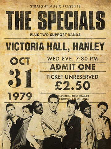 The Specials - Hanley 1979 - A4 Music Mini Print