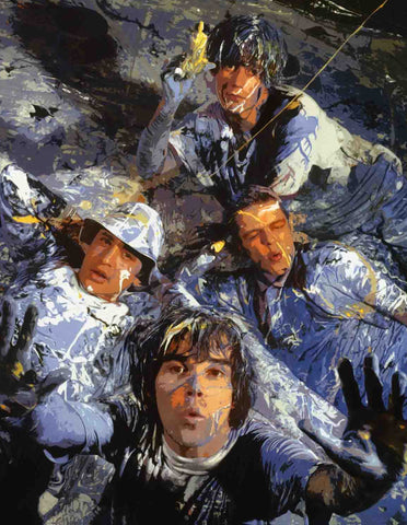 The Stone Roses - Paint - A4 Music Mini Print