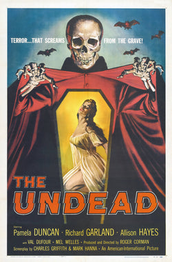 The Undead - 50s B-Movie Classic - A4 Vintage Print B