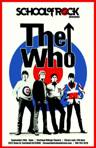 The Who - Carlshad Village Theatre - A4 Music Mini Print