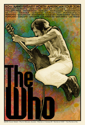 The Who - North American Tour 2016 - A4 Music Mini Print A