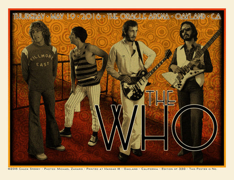 The Who - Oakland 2016 - A4 Music Mini Print