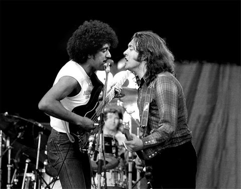 Thin Lizzy - Phil Lynott & Rory Gallagher - A4 Music Mini Print