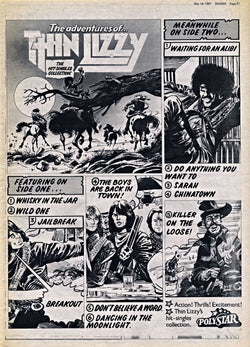 Thin Lizzy - The Adventures of Thin Lizzy - A4 Mini Print