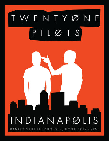 Twenty One Pilots - Indianapolis - A4 Music Mini Print