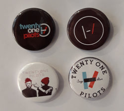 Twenty One Pilots - Set of 4 Badges A