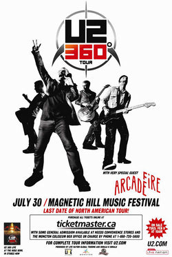 U2 - 360 Tour - Magnetic Hill Music Festival - A4 Music Mini Print