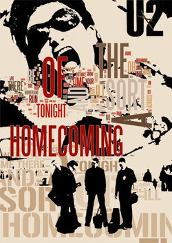 U2 - A Sort of Homecoming - A4 Music Mini Print