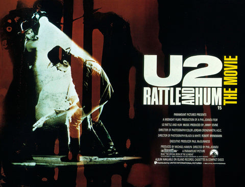 U2 - Rattle and Hum - A4 Music Mini Print A