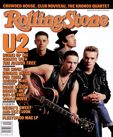 U2 - Rolling Stone - May 1987 - A4 Music Mini Print