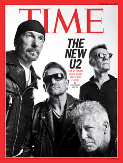 U2 - Time Cover - The New U2 - September 2014 - A4 Mini Print