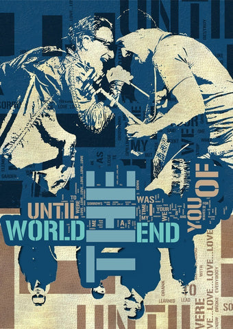 U2 - Until the End of the World - A4 Music Mini Print