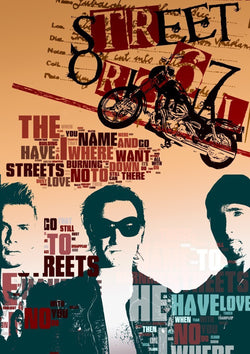 U2 - Where the Streets Have No Name - A4 Mini Print