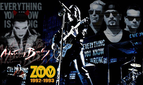 U2 - Zoo TV - A4 Music Mini Print