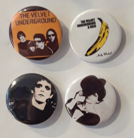 Velvet Underground -  Lou Reed - Set of 4 Badges