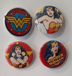 Wonder Woman - Set of 4 Badges