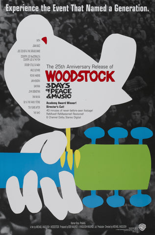 Woodstock - A4 Music Mini Print A