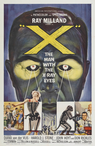 X - The Man with X-Ray Eyes - 50s B-Movie Classic - 50s B-Movie Classic - A4 Vintage Print A