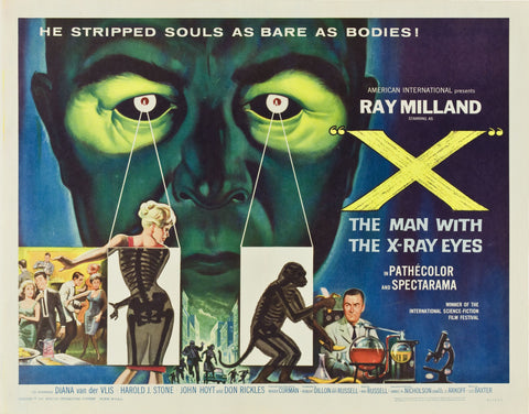 X - The Man with X-Ray Eyes - 50s B-Movie Classic - 50s B-Movie Classic - A4 Vintage Print B
