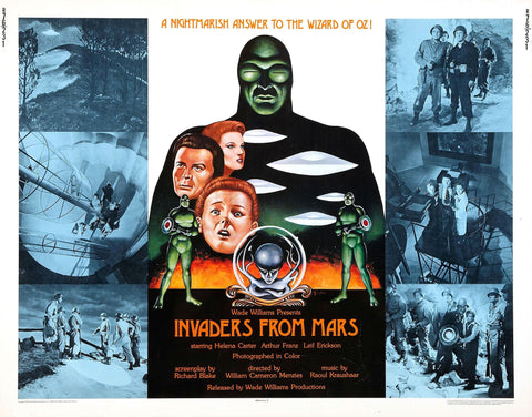 Invaders from Mars - 50s B-Movie Classic - A4 Vintage  Print D