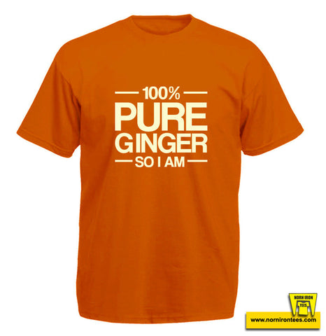 100% Pure Ginger So I Am Kids T-shirt