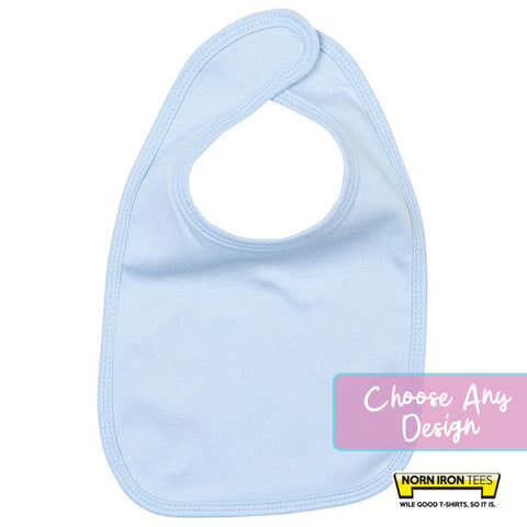 Baby Bib - Choose Any Norn Iron Tees Design