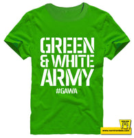 GREEN AND WHITE ARMY Kids Tee