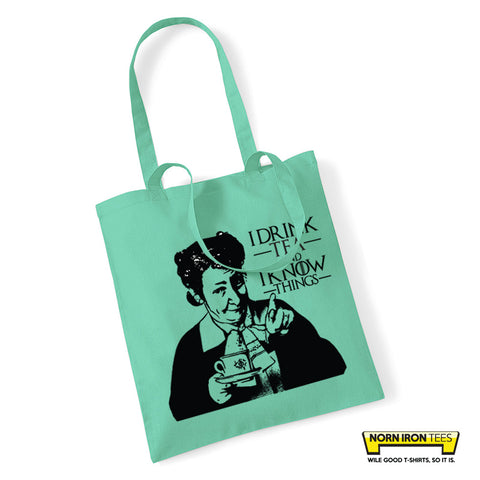 I Drink Tea & I Know Things - Tote Bag