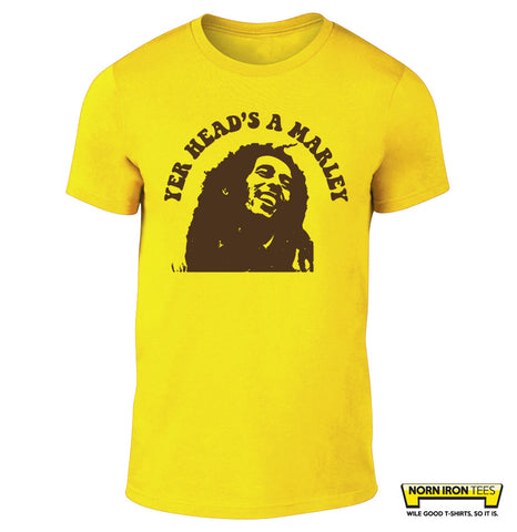 YER HEAD'S A MARLEY T-shirt