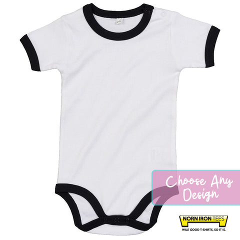 Baby Ringer bodysuit- Choose Any Norn Iron Tees Design