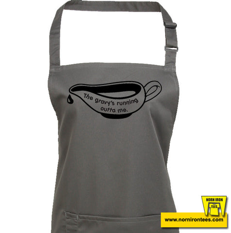 The Gravy's Running Out Of Me Apron