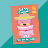 Bean&Gone Mini Sticker Book (Fern)