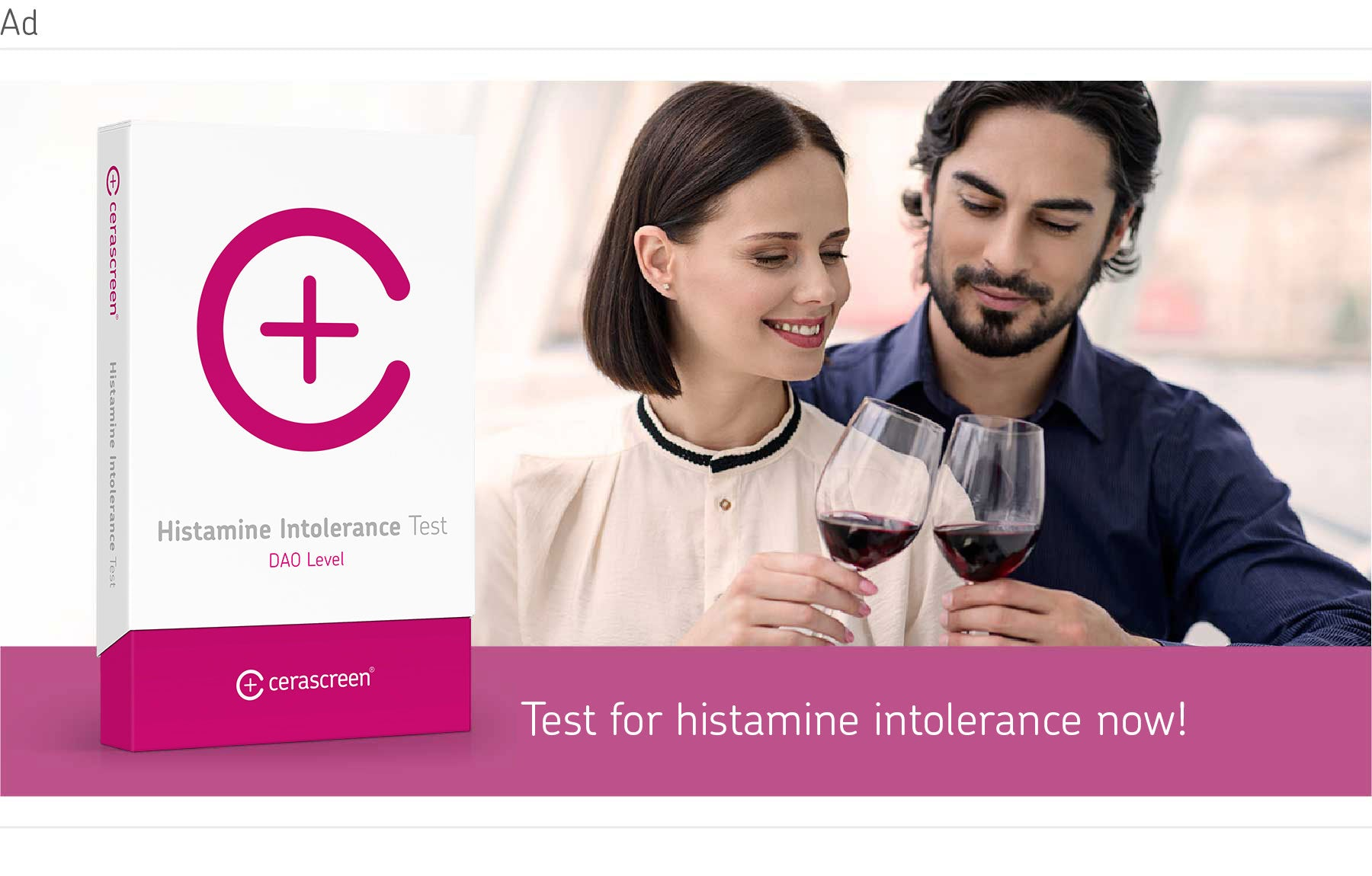 Test your histamine reaction with histamine intolerance test