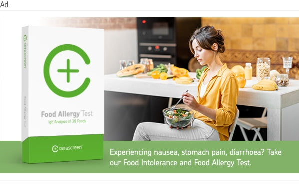 banner to food intolerance and food allergy test