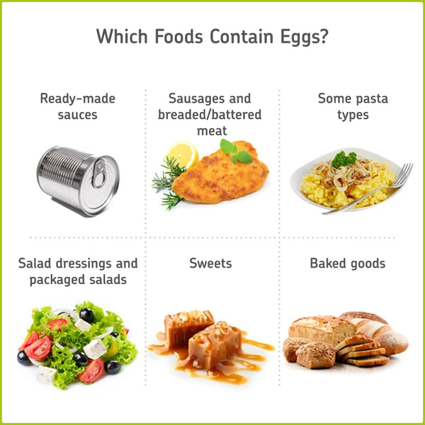 Foods to avoid with an egg allergy