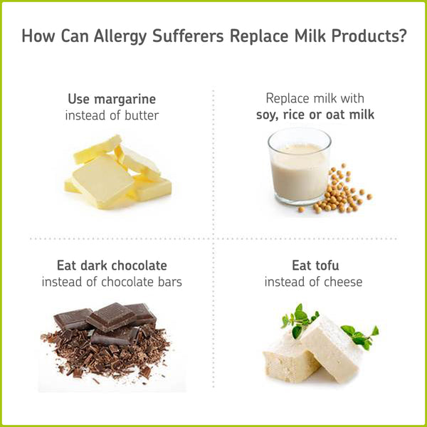 Products to eat if you have a milk allergy