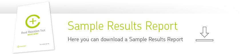 cerascreen food reaction test sample results report