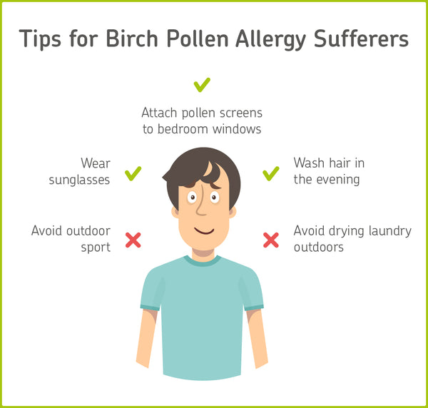 Tips for birch pollen allergy symptoms