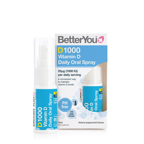 D1000 Vitamin D Oral Spray - Double Pack - 2 x 15 ml