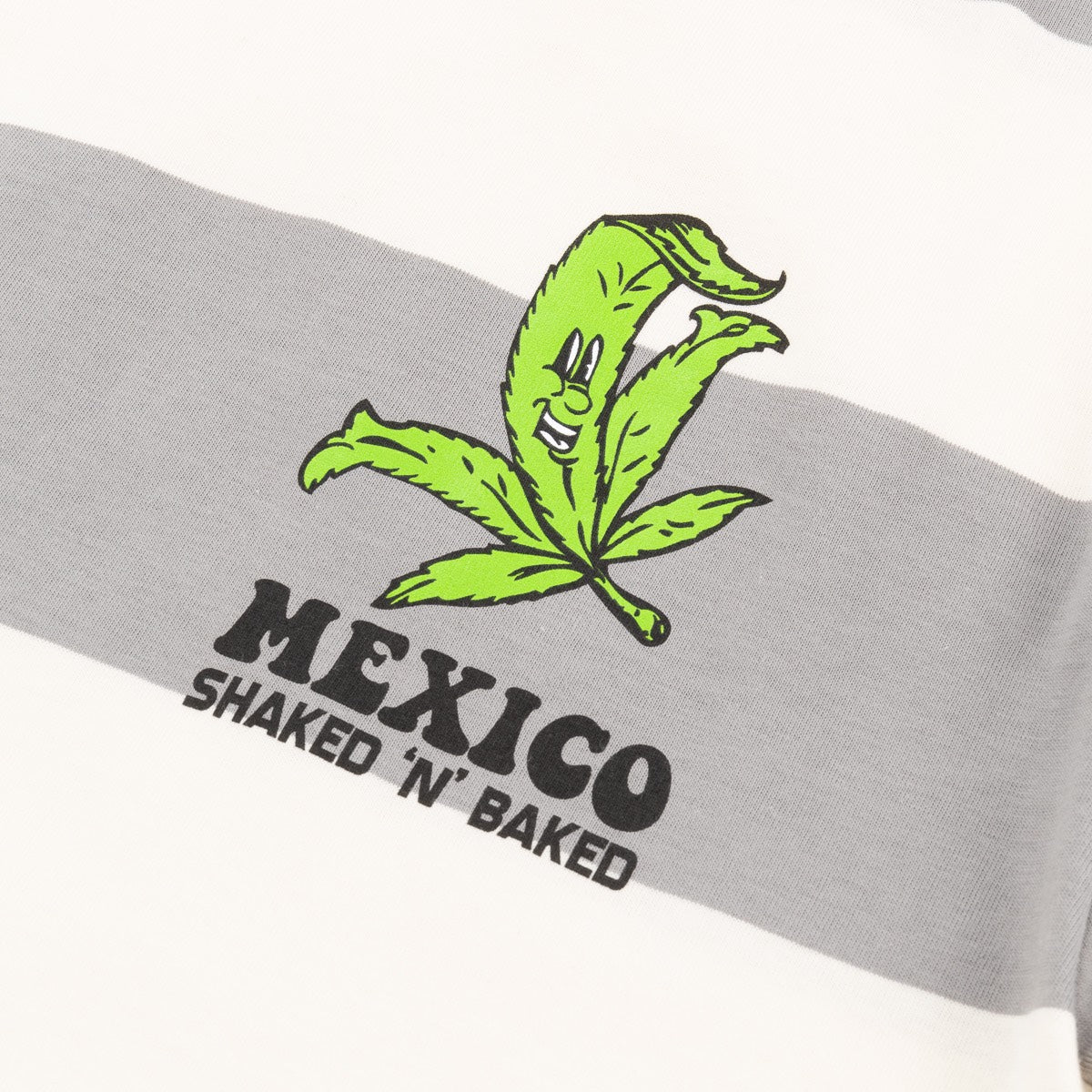 SHAKED N BAKED LS BORDER TEE