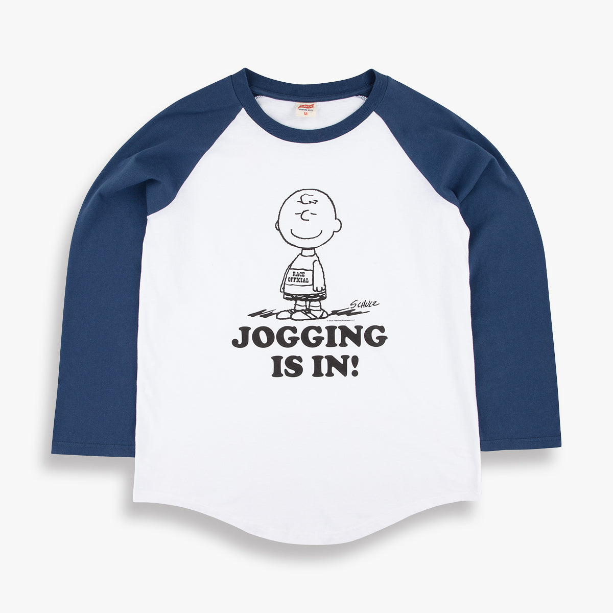 Jogging is in! baseball raglan