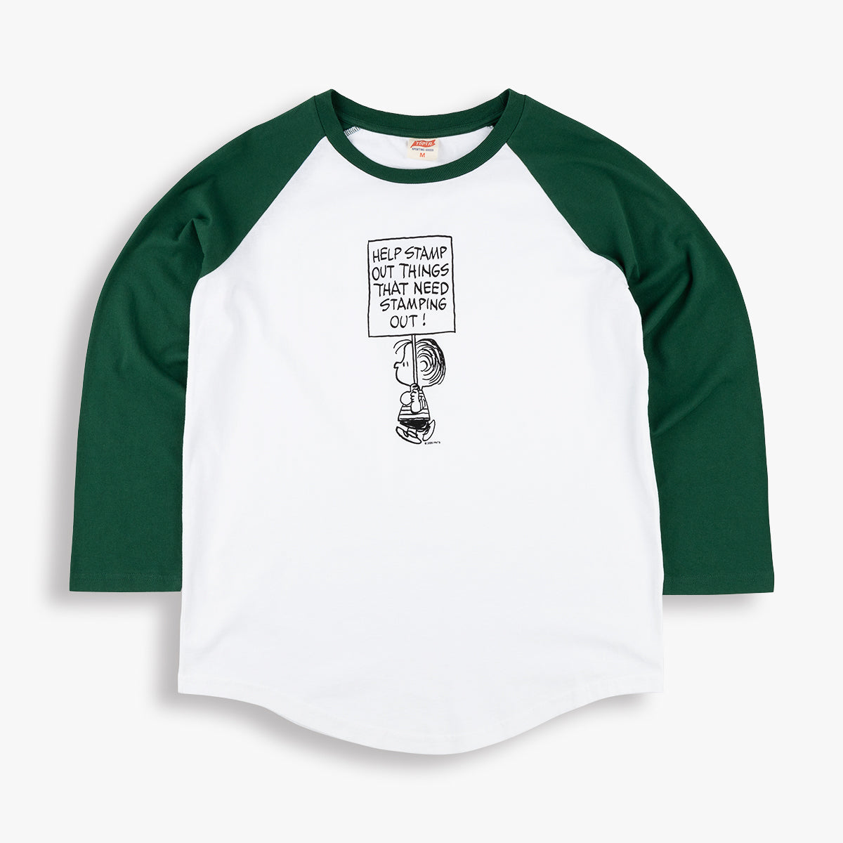 STAMP IT OUT BASEBALL TEE