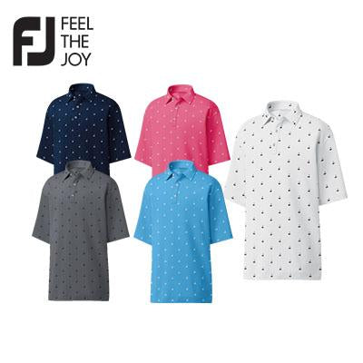 Footjoy ProDry Lisle Golf Print Polo T-Shirt