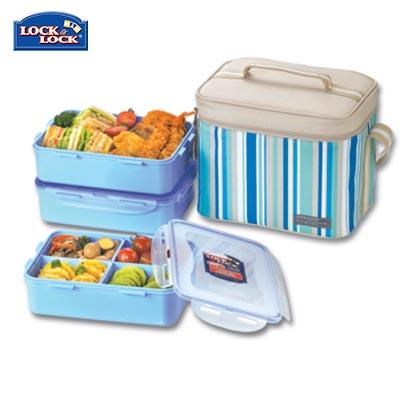 Lock & Lock 3 Pieces Lunch Box Set 1.6L | Executive Corporate Gifts Singapore