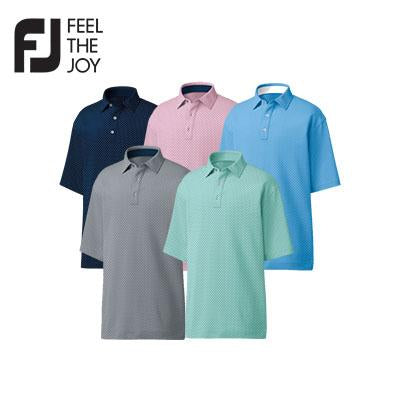 Footjoy Stretch Lisle Dot Print Polo T-Shirt