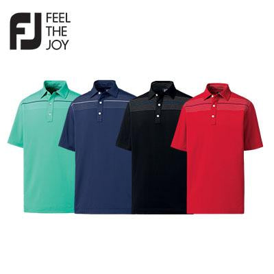 Footjoy Stretch Lisle Engineered Chest Pinstripe Polo T-Shirt